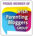 Proud member of Irish Parenting Bloggers Group